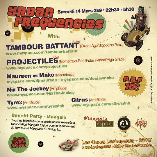 14/03/09! Urban Frequencies by Amplitude: Dubstep/Break/DnB U-F_verso